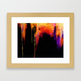 Crooked Drips Framed Art Print