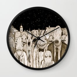 Innsmouth Meeting Wall Clock