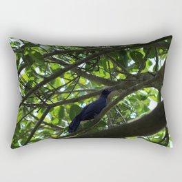 Great Tailed Grackle near Tulum Rectangular Pillow