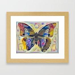 Kandinsky Butterfly Framed Art Print