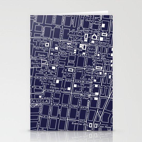 Vintage LA Map Stationery Cards