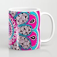 mod Mugs featuring Mod Flower by PeriwinklePeacoat