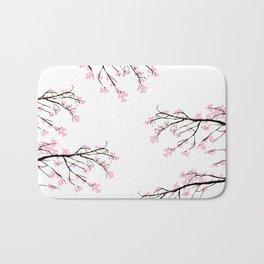 Cherry Blossom Print Bath Mat