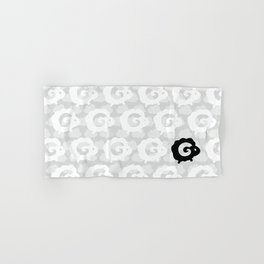 Black Sheep Pattern Hand & Bath Towel