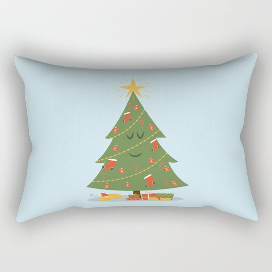 The Tree and the Cat Rectangular Pillow