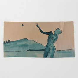 Moon Dance Beach Towel