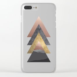 Valley, Scandinavian Modern Abstract Clear iPhone Case
