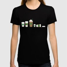 Starbucks Black Womens Fitted Tee SMALL