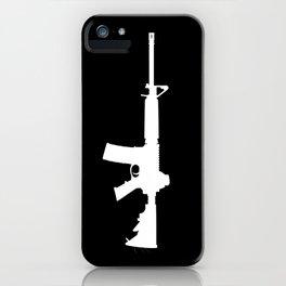 AR-15 (on black) iPhone Case