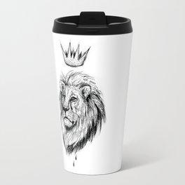 Cecil the Lion Black and White Travel Mug