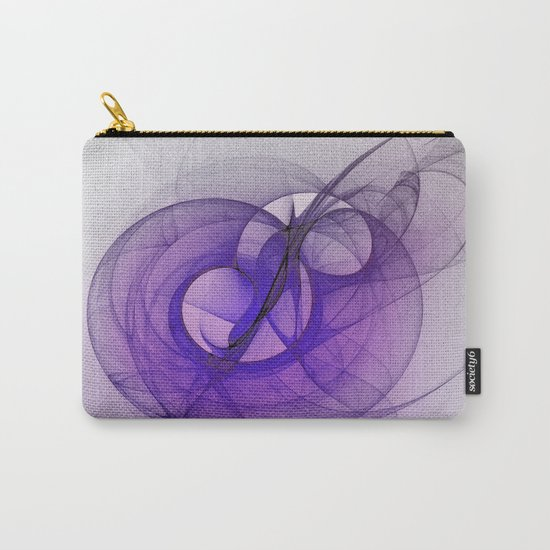 Mystery purple abstract fractal Carry-All Pouch