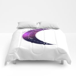 Don't Blame Me...Purple Capricorn Moon Comforters