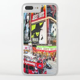 Times Square II Special Edition II Clear iPhone Case