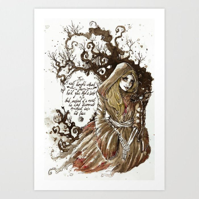 Red Dead Diamond Art Print