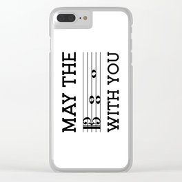 May the 4th be with you (light colors/alto clef) Clear iPhone Case