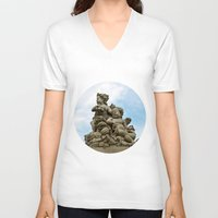 angels V-neck T-shirts featuring Angels by Design Windmill