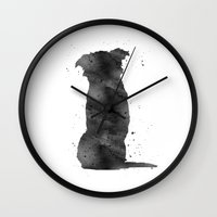 border collie Wall Clocks featuring Border Collie by Carma Zoe