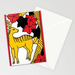 OCTOBER DEER Stationery Cards
