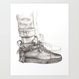 Buscemi 100MM Fashion Drawing Art Print