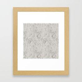 watercolor black dots Framed Art Print