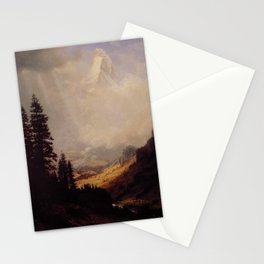 The Matterhorn By Albert Bierstadt | Reproduction Painting Stationery Cards