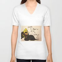 lemongrab V-neck T-shirts featuring A Life Time on the Hips by Matty_Cat