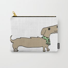 Daschund with scarf Carry-All Pouch