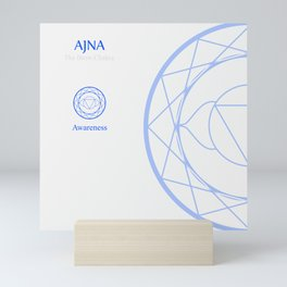 Ajna- The brow chakra which stands for awareness. The word ajna is a third eye chakra Mini Art Print