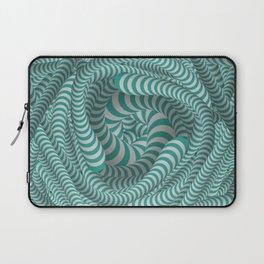 Mint green stripe design Laptop Sleeve