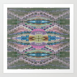 Aztec Tibetan Merge Mandala Art Print