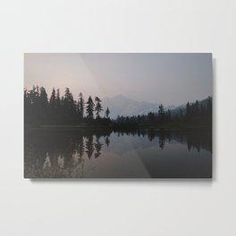 Sunrise at Picture Lake Metal Print