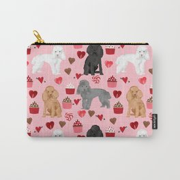 Toy Poodles mixed coat valentines day cupcakes love hearts dog breed gifts pet portraits must haves Carry-All Pouch
