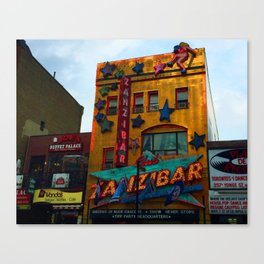 Yonge Street strip club, Toronto Canvas Print