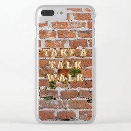 Take a Talk Walk - Brick Clear iPhone Case