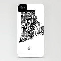 Typographic Rhode Island Slim Case iPhone (4, 4s)