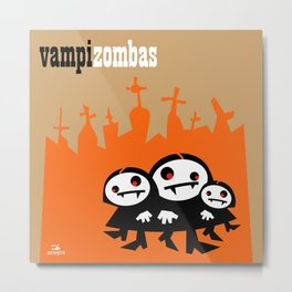 The terrible Vampizombas Metal Print