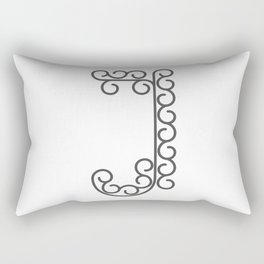 "Letter ""J"" in beautiful design Fashion Modern Style Rectangular Pillow"