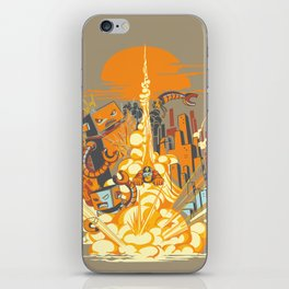 Smash! Zap!! Zooom!! - Butt-Chinned Captain iPhone Skin