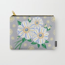 Abstract flowers with background Carry-All Pouch