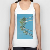 palm tree Tank Tops featuring Palm tree by Laura James Cook