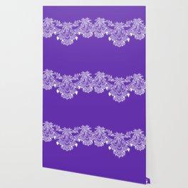 Vintage Lace Hankies Purple Wallpaper