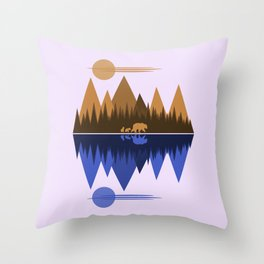 Bear & Cubs Throw Pillow