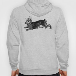The Rabbit and Roses | Black and White Hoody