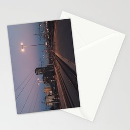 Sunset railway town Stationery Cards