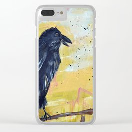 Remi the Raven Clear iPhone Case