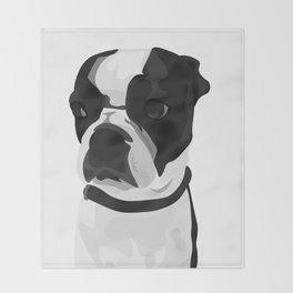 Tucker the Boston Terrier Throw Blanket