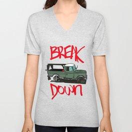 BREAK IT DOWN Unisex V-Neck