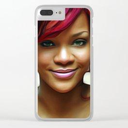 Rihanna - Celebrity (Beautiful Smile Art) Clear iPhone Case