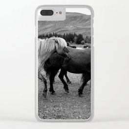 Herd of Horses Clear iPhone Case