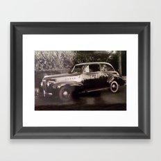 Car by the Bushes Framed Art Print